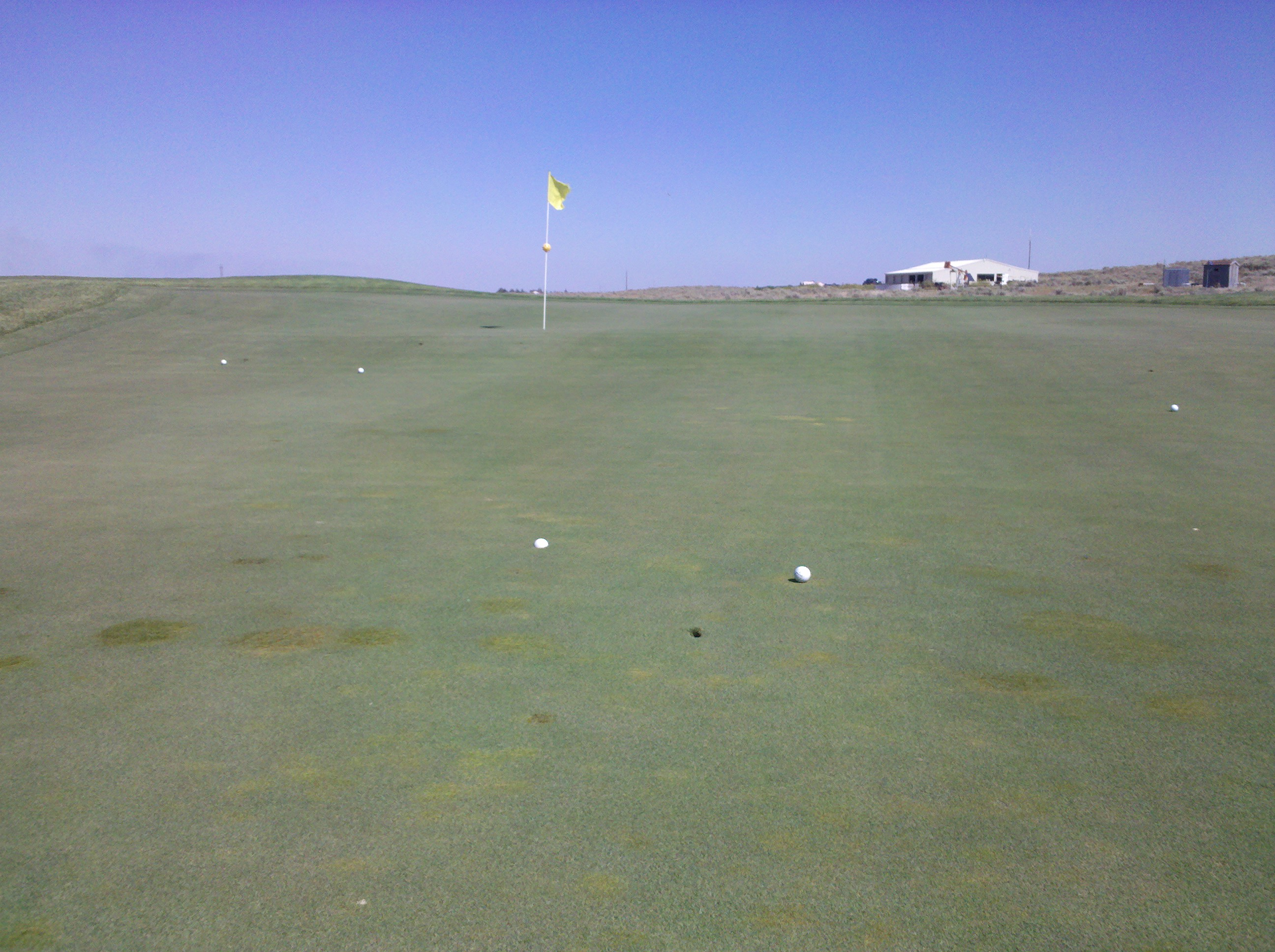 Five 9 iron shots from 170 @ Yucca Ridge on #9.