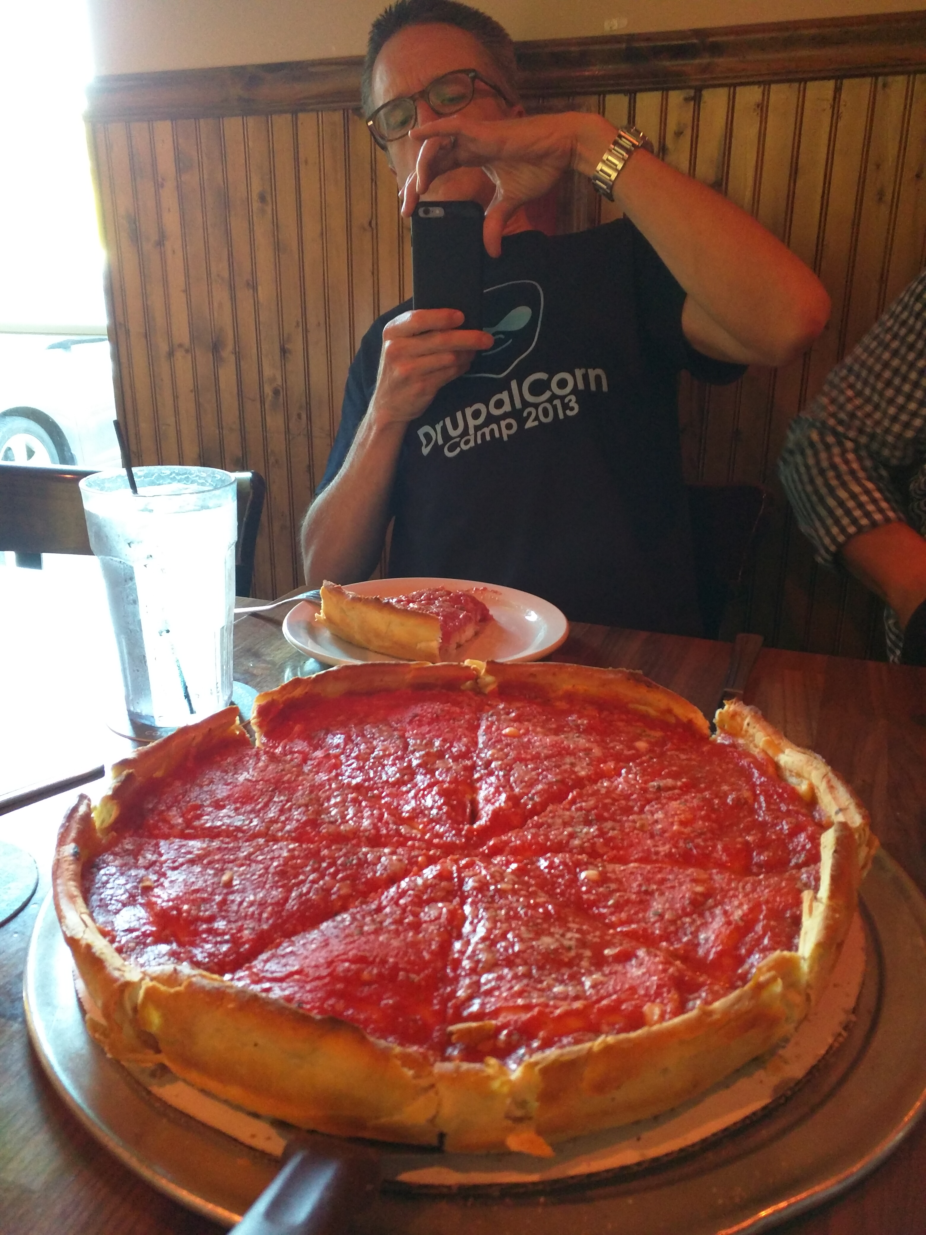Chicago-style pizza in Iowa City