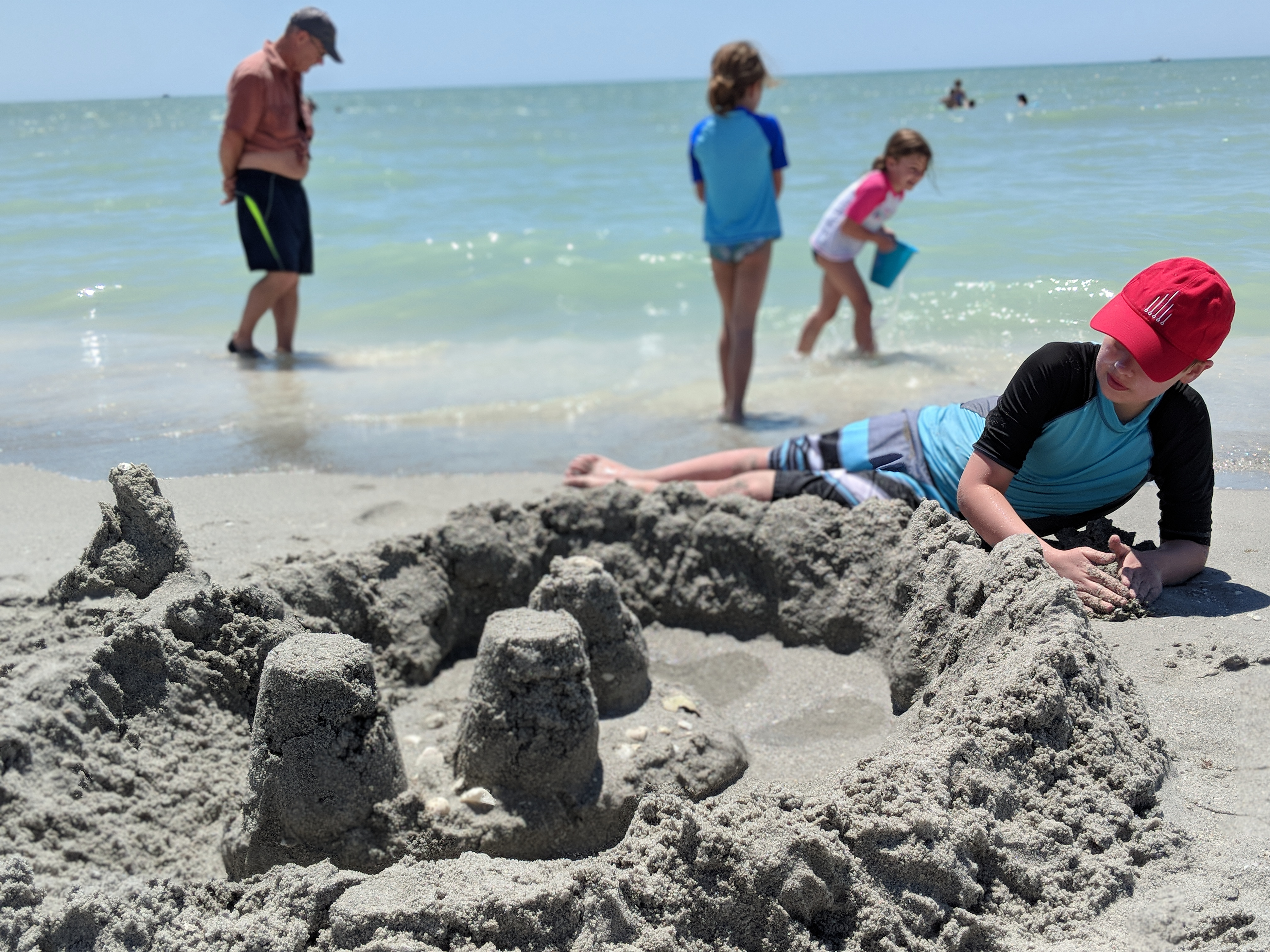 Sand castles at Sanibel Island