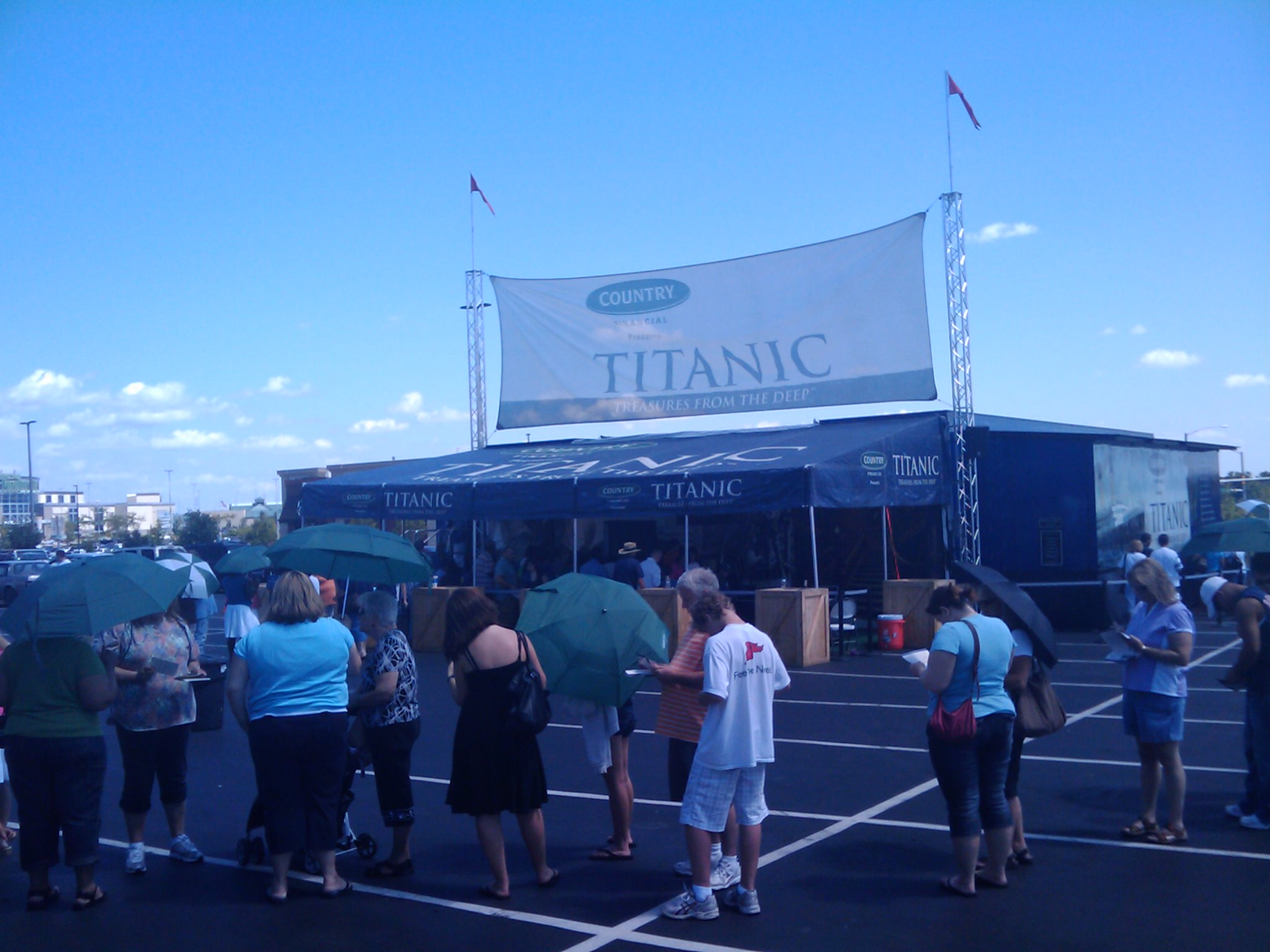 Country financial presents Titanic treasures of the deep